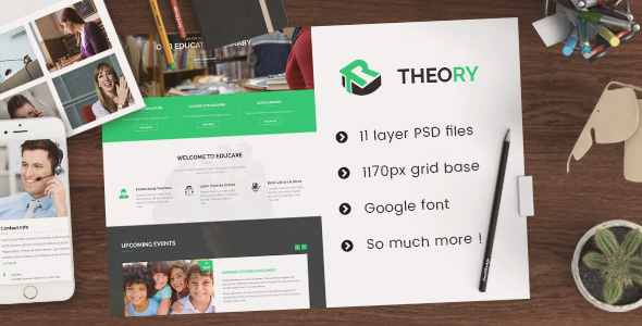Theory – Education PSD Template